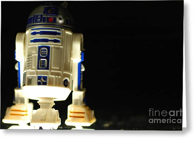 R2dr Greeting Cards - R2-d2 Greeting Card by Micah May
