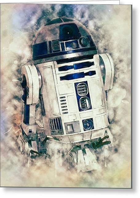 R2-d2 Greeting Card by Taylan Soyturk