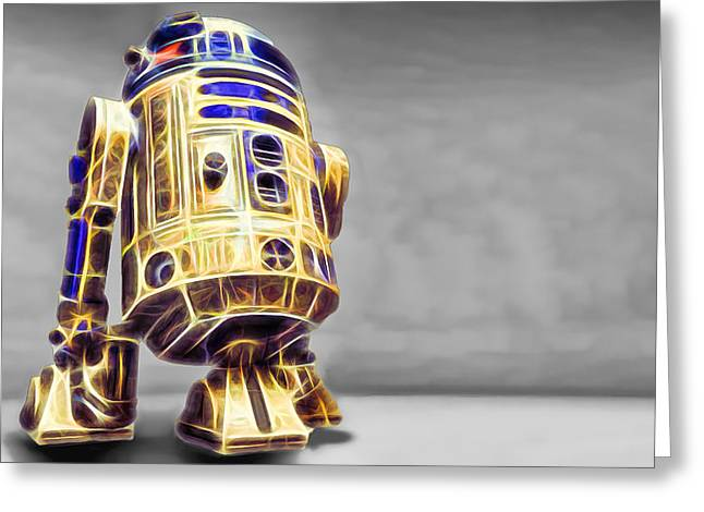 R2 Feeling Happy Greeting Card by Scott Campbell