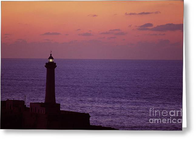 Rabat Photographs Greeting Cards - Rabat Morocco Lighthouse Greeting Card by Antonio Martinho