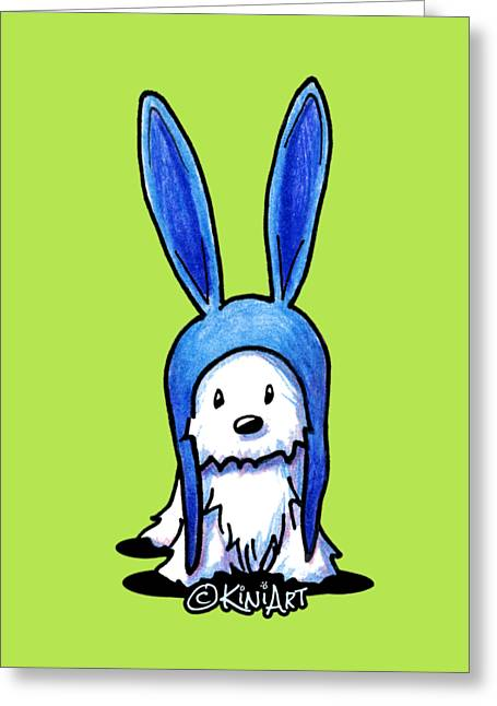 Coton De Tulear Greeting Cards - Rabbit Ears Westie Greeting Card by Kim Niles