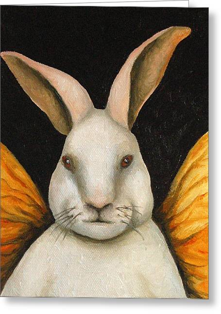 Playboy Bunny Greeting Cards - Rabbit Fairy Greeting Card by Leah Saulnier The Painting Maniac