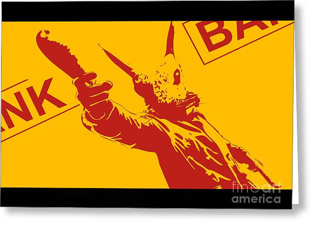 Stencil Spray Greeting Cards - Rabbit heist Greeting Card by Pixel  Chimp