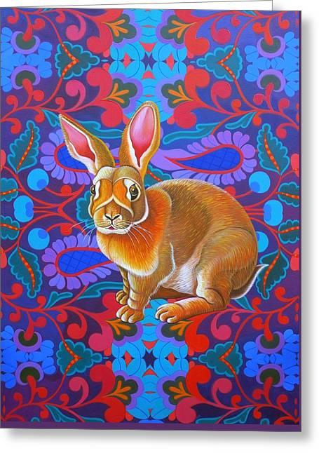 Rabbit Greeting Card by Jane Tattersfield