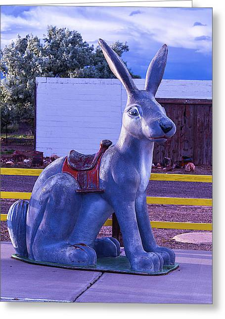 Long Nose Greeting Cards - Rabbit Ride Route 66 Greeting Card by Garry Gay