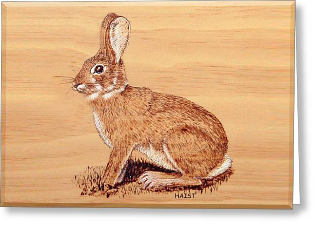 Fur Pyrography Greeting Cards - Rabbit Greeting Card by Ron Haist