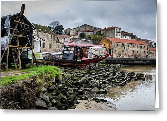Rabelo Boats At The Dock Greeting Card by Marco Oliveira