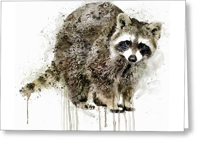Raccoon Greeting Card by Marian Voicu
