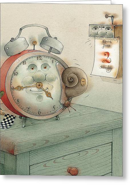 Calendar Drawings Greeting Cards - Race Greeting Card by Kestutis Kasparavicius