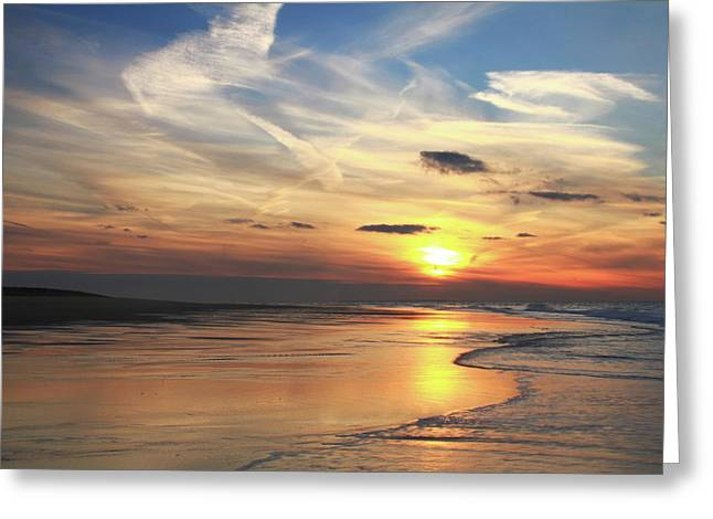 Storm Clouds Cape Cod Greeting Cards - Race Point Beach Sunset  Greeting Card by Roupen  Baker
