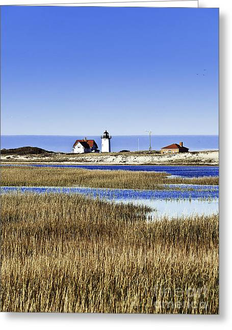 Race Point Lighthouse Greeting Card by John Greim