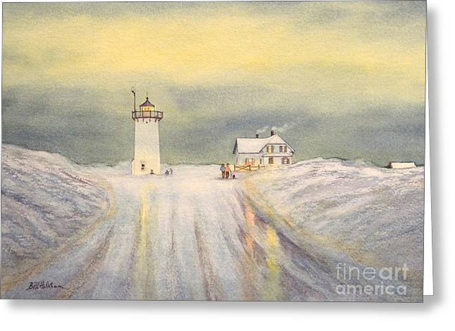 Race Point Greeting Cards - Race Point Lighthouse Provincetown Greeting Card by Bill Holkham