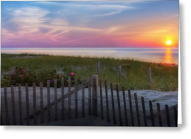 Cape Cod Bay Greeting Cards - Race Point Sunset Cape Cod 2015 Greeting Card by Bill Wakeley