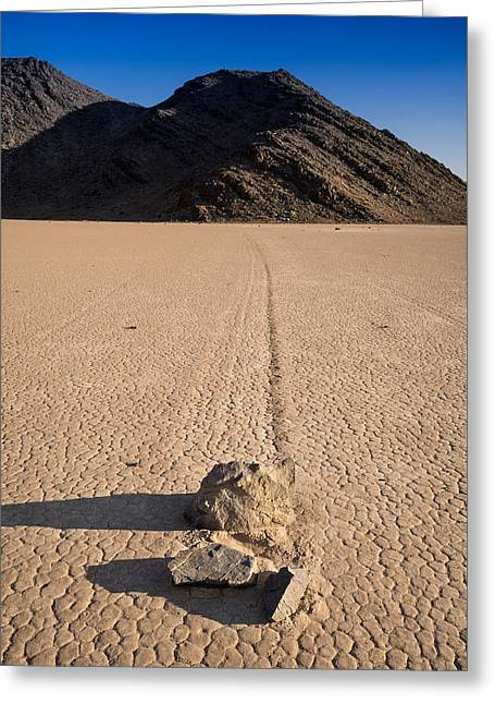 Desert Lake Greeting Cards - Racetrack Playa Death Valley Greeting Card by Steve Gadomski