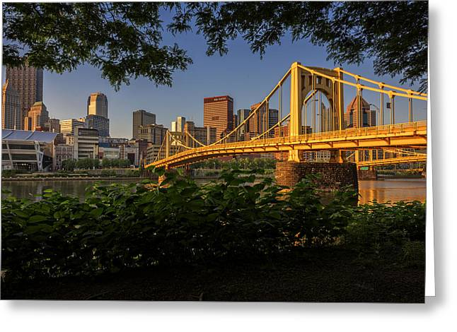 Pittsburgh Greeting Cards - Rachel Carson Bridge Greeting Card by Rick Berk
