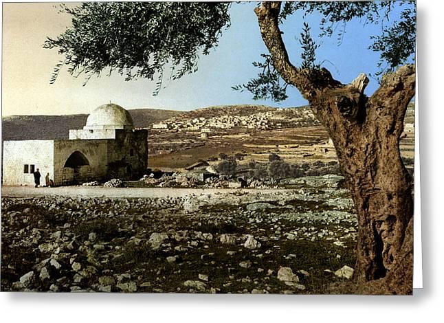Tomb Rachel Greeting Cards - Rachel Tomb in Bethlehem Greeting Card by Munir Alawi