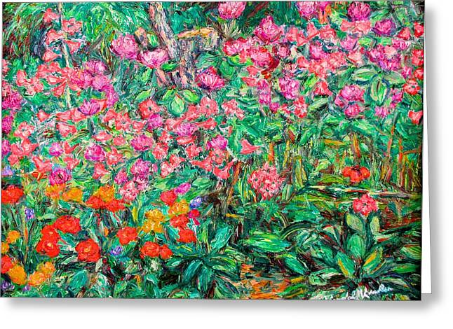 Kendall Kessler Greeting Cards - Radford Flower Garden Greeting Card by Kendall Kessler