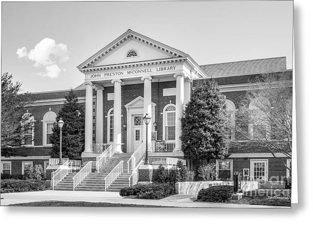 Radford University Mc Connell Library Greeting Card by University Icons