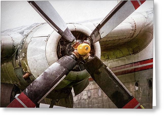 Radial Engine And Prop - Fairchild C-119 Flying Boxcar Greeting Card by Gary Heller
