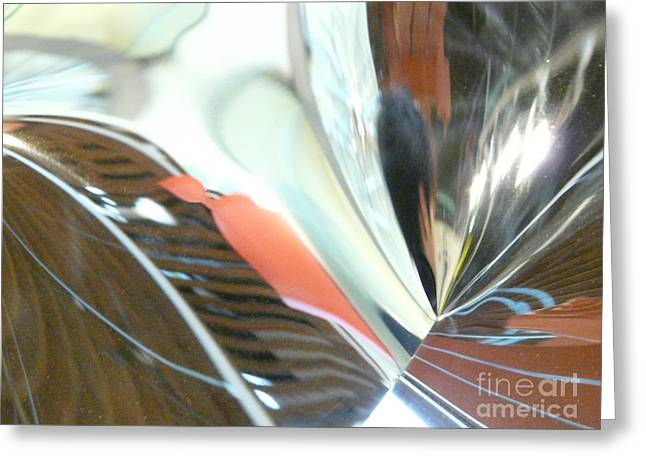 Radial Reflection 2 Greeting Card by Donna McLarty