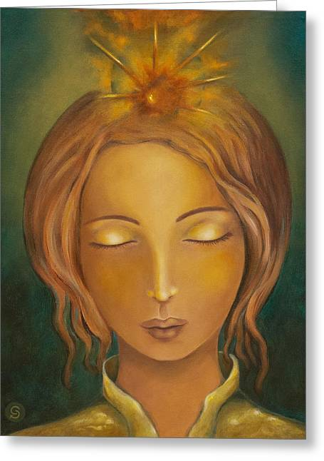 Divine Feminine Greeting Cards - Radiance Greeting Card by Christina Gage