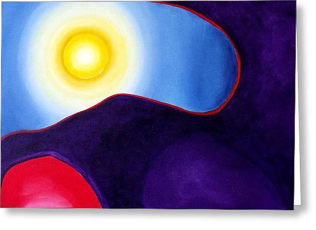 Inner World Paintings Greeting Cards - Radiance Greeting Card by Wayne Devon