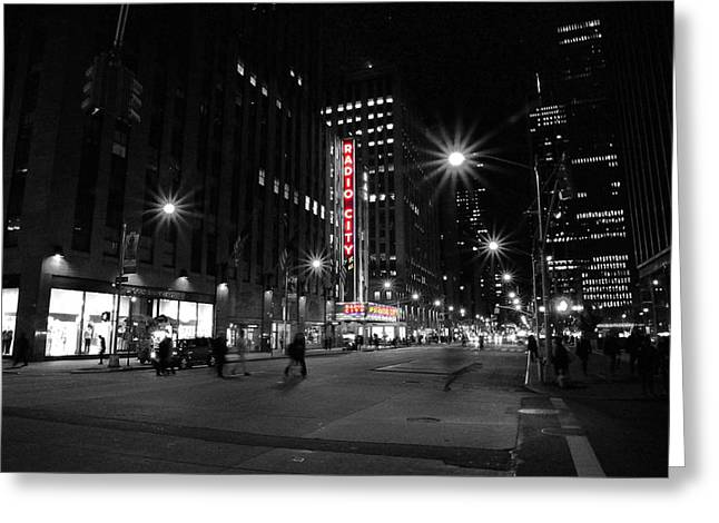 Outdoor Theater Greeting Cards - Radio City Colors Greeting Card by Kurt Von Dietsch