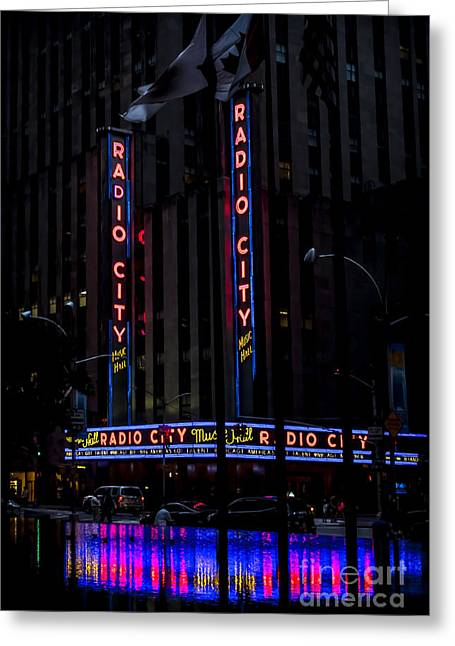 Theater Greeting Cards - Radio City Music Hall at Dawn Greeting Card by James Aiken