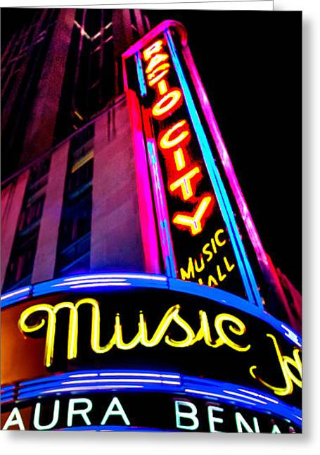 Radio City Music Hall Greeting Card by Az Jackson