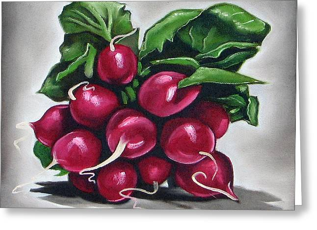 Radishes Greeting Cards - Radish Greeting Card by Ilse Kleyn