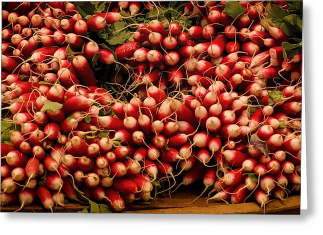 Pungent Greeting Cards - Radishes  Greeting Card by Taken