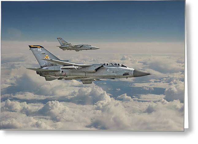 Fighter Aircraft Greeting Cards - RAF Tornado Greeting Card by Pat Speirs