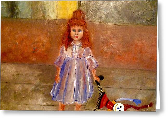 Toy Store Paintings Greeting Cards - Rag Doll Baby Greeting Card by Yolanda Terrell