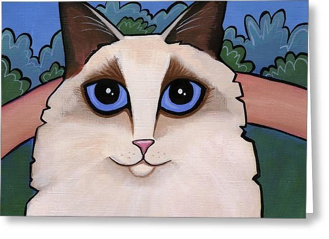 Ragdoll Cat Greeting Card by Leanne Wilkes