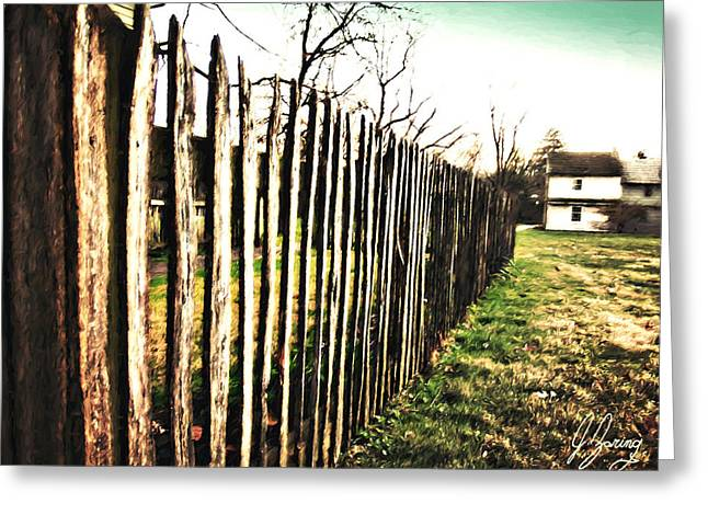 Ragged Country Fence Greeting Card by Joshua Zaring