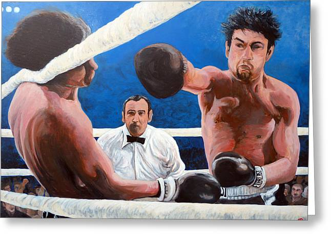 Knock Out Greeting Cards - Raging Bull Greeting Card by Tom Roderick