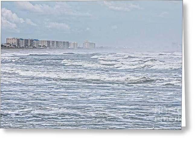 Rip Tide Greeting Cards - Raging Waters Greeting Card by Deborah Benoit
