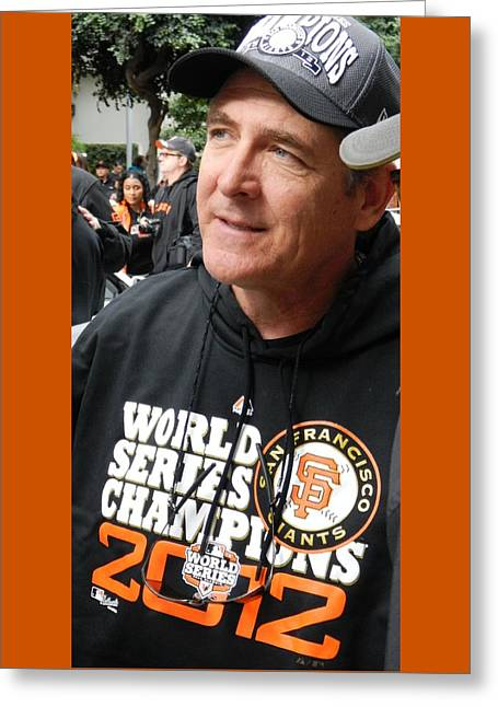 2012 World Series Champions Greeting Cards - Rags in Victory 2012 Greeting Card by Karthik Thyagarajan