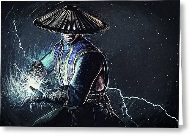 Raiden - Mortal Kombat Greeting Card by Taylan Soyturk