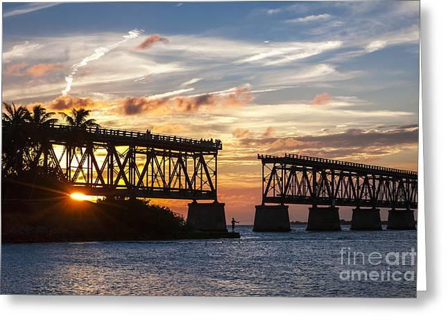 Rail Bridge At Florida Keys Greeting Card by Elena Elisseeva