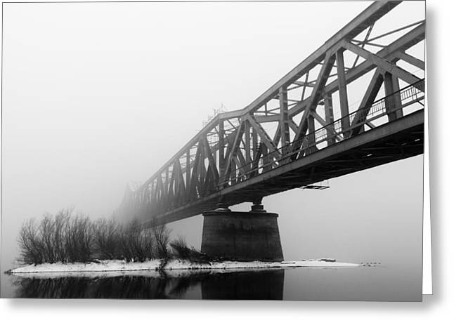 Railroad Bridge 02 Greeting Card by Danilo Stefanovic