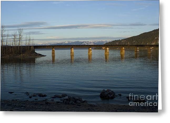 Sandpoint Greeting Cards - Railroad Bridge over the Pend Oreille Greeting Card by Idaho Scenic Images Linda Lantzy