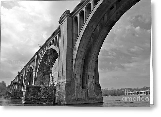 Railroad Bridge Greeting Cards - Railroad Bridge Richmond Va Greeting Card by Sean Cupp