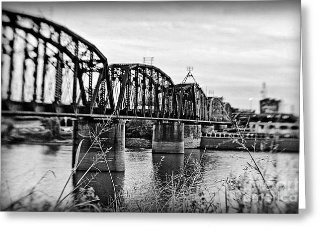 Railroad Bridge Greeting Card by Scott Pellegrin