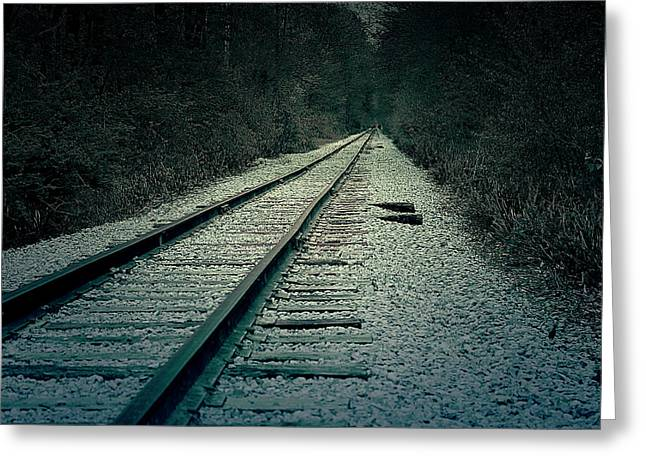 Rail Greeting Cards - Railroad Greeting Card by Scott Hovind