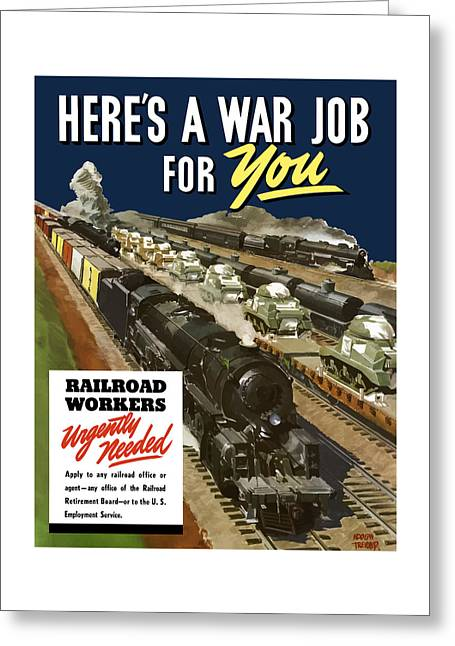 Job Greeting Cards - Railroad Workers Urgently Needed Greeting Card by War Is Hell Store