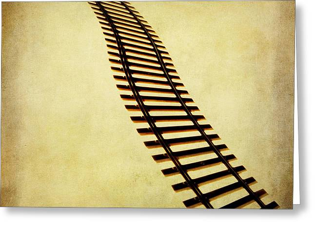 Railroad Tracks Greeting Cards - Railway Greeting Card by Bernard Jaubert