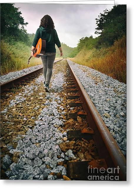 Wander Greeting Cards - Railway Drifter Greeting Card by Carlos Caetano