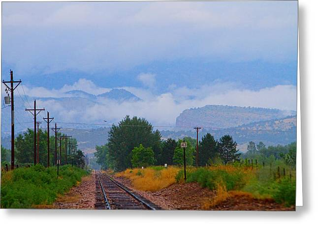 Striking Images Greeting Cards - Railway into the Clouds Greeting Card by James BO  Insogna
