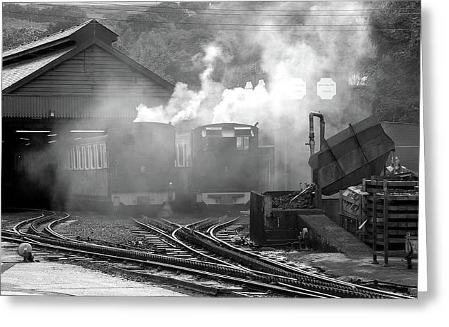 Railway Yard Greeting Card by Graham Taylor